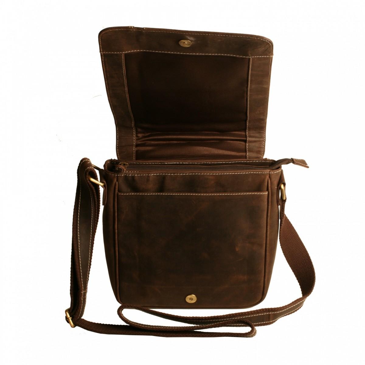 CASABLANCA kožená pánská taška přes rameno hnědá 802 fb3494a12f2