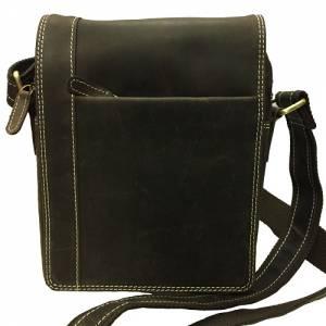 CASABLANCA kožená pánská taška přes rameno tmavě hnědá 804 ddf716c890e