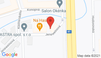 Google map: Jeneweinova 40/2, 617 00  Brno